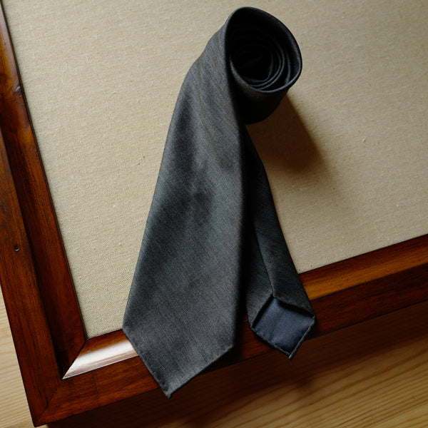 Mid Grey Solaro Wool/Silk Tie