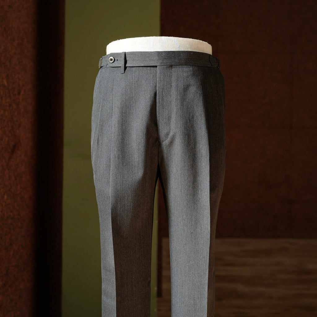 Grey Vintage Wool Trousers