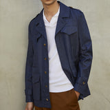 Valstarino Navy Wool/Silk/Linen M65 Field Jacket
