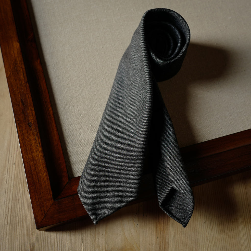 Grey Covert Wool Tie