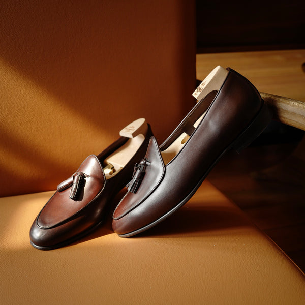 4951 Tassel Loafers in Moka Brown Calf