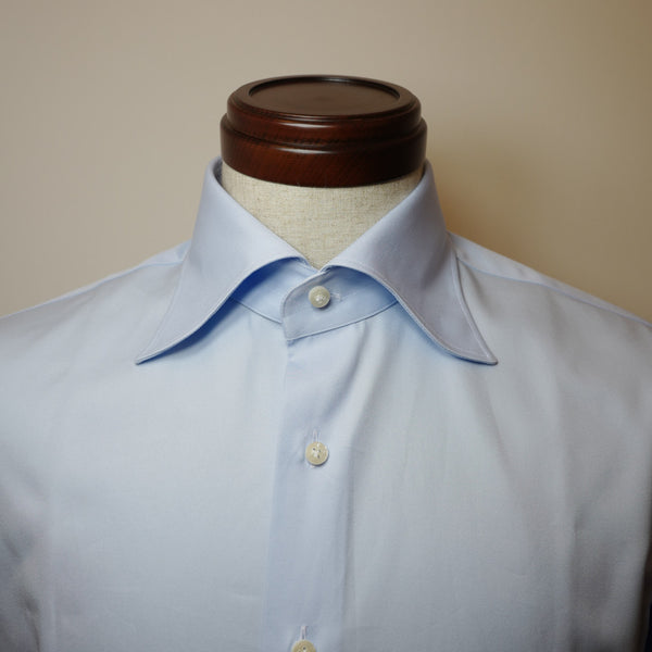 Light Blue Shirt with S Collar