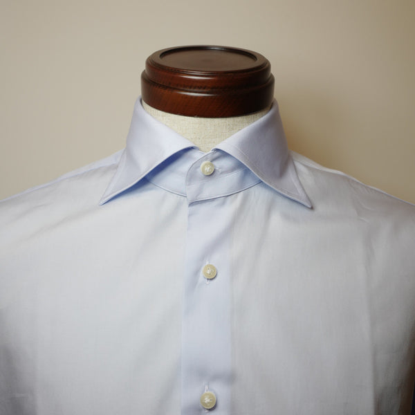 Light Blue Shirt with Cut-away Collar