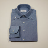 Light Blue Chambray Shirt with Classic Button-down Collar