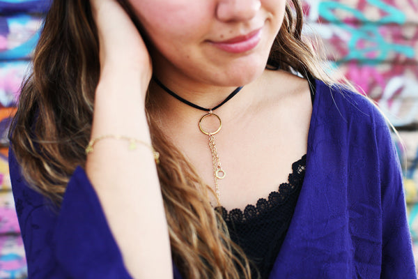 Melt Goods Dawa Chocker Necklace I Minimalist + Delicate Brass Jewelry Made by Refugee Women in America