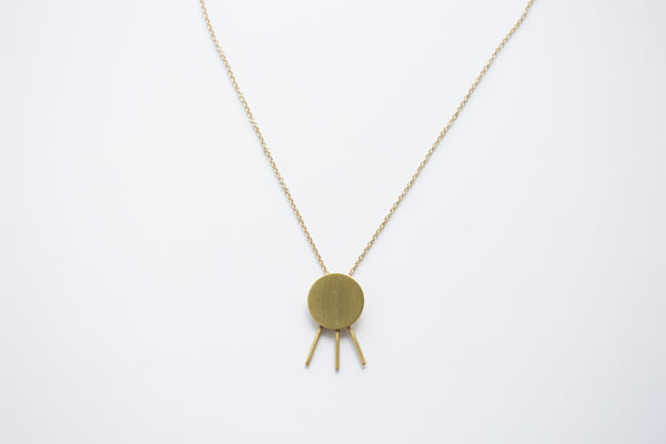 Melt Goods Rozeh Necklace I Minimalist + Delicate Brass Jewelry Made by Refugee Women in America