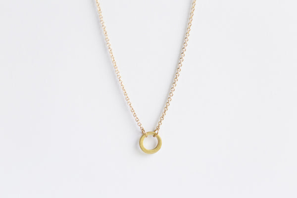 Melt Goods Chari Necklace I Minimalist + Delicate Brass Jewelry Made by Refugee Women in America