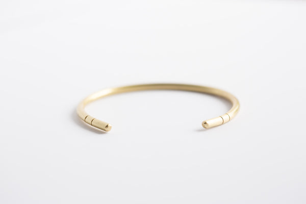 Melt Goods Yom Bracelet I Minimalist + Delicate Brass Jewelry Made by Refugee Women in America