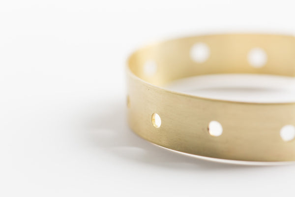 Melt Goods Ping Bracelet I Minimalist + Delicate Brass Jewelry Made by Refugee Women in America