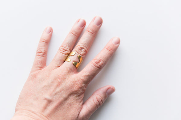 Melt Goods Alula Ring I Minimalist + Delicate Brass Jewelry Made by Refugee Women in America