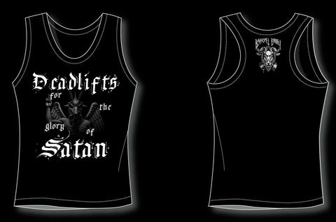 Deadlifts for the glory of Satan Tanktop