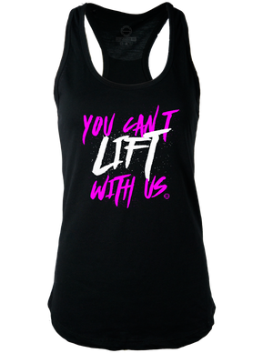 Can't Lift With Us Racerback Tank