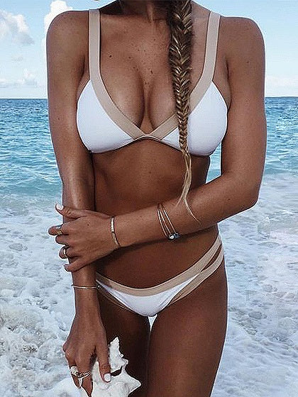 White Bikini Top And Bottom