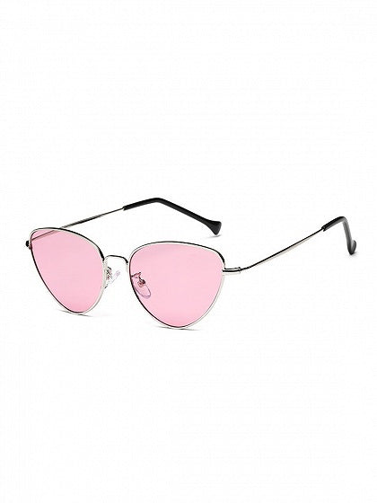 Pink Cat Eye Frame Sunglasses