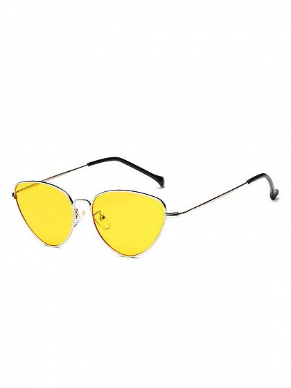 Yellow Cat Eye Frame Sunglasses
