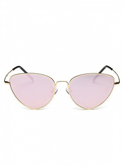 Light Pink Cat Eye Frame Sunglasses