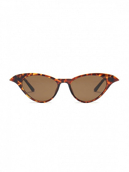 Brown Leopard Print Cat Eye Frame Sunglasses