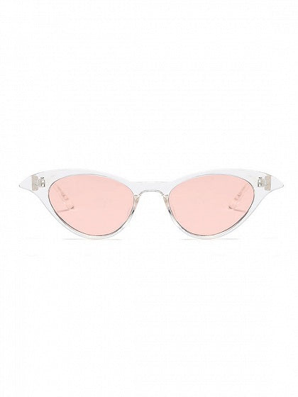 White Cat Eye Frame Sunglasses