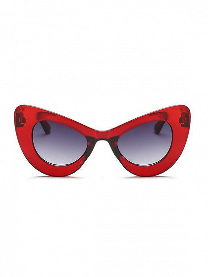 Red Cat Eye Frame Sunglasses