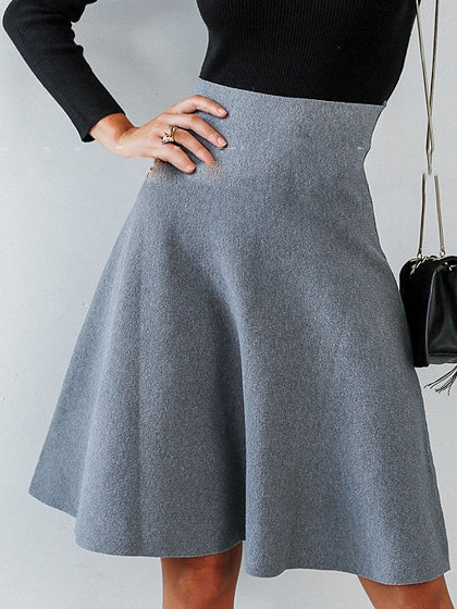 Dark Gray Skirt High Waist