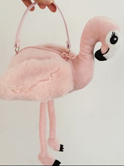 Pink Women Clutch Bag Flamingo Shape