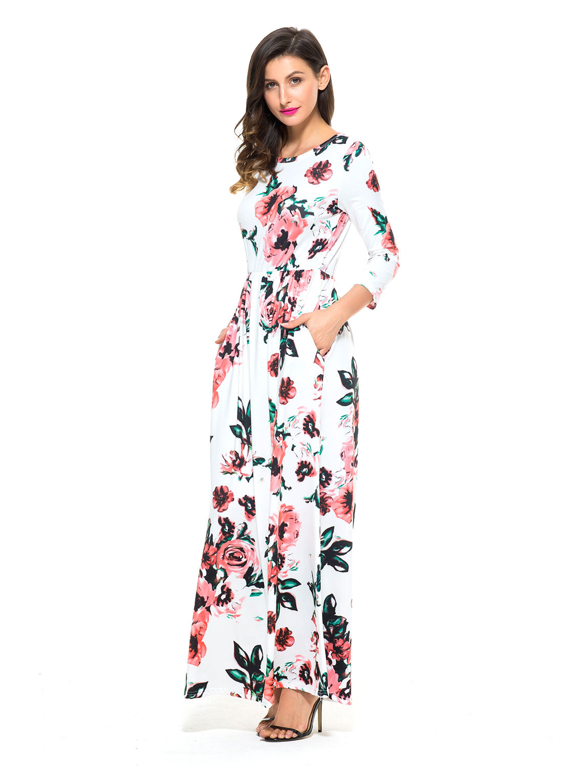 Show Gallery. White Floral Long Sleeve Maxi Dress · White Floral Long  Sleeve Maxi Dress · White Floral Long ... 9919b3f73