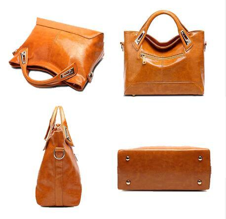 Oil Wax?Leather Designer Shoulder?Bags