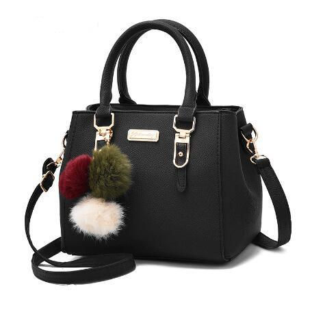 Club 21 women's brand hair ball ornaments sequin bags hotsale handbag party messenger bag leather shoulder bags