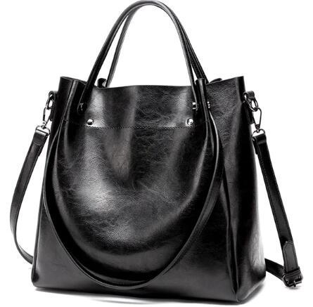 Leather Soft Messenger Shopping Handbag