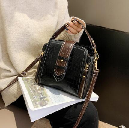 Crocodile handbag for women 2018 fashion small shoulder bag zipper bags decoration