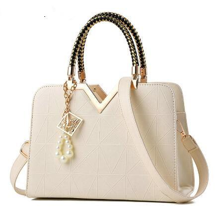 female zipper pocket Women's leather crossbody shoulder Bags