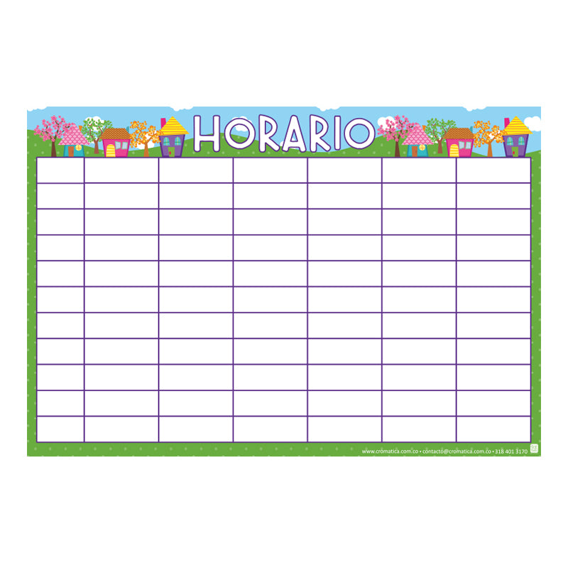 Horario Casitas - Casillas en blanco
