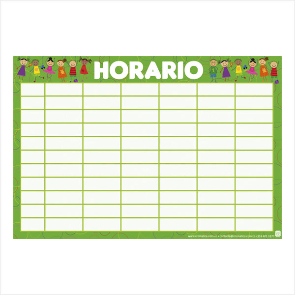 Horario Garabatos - Casillas en blanco
