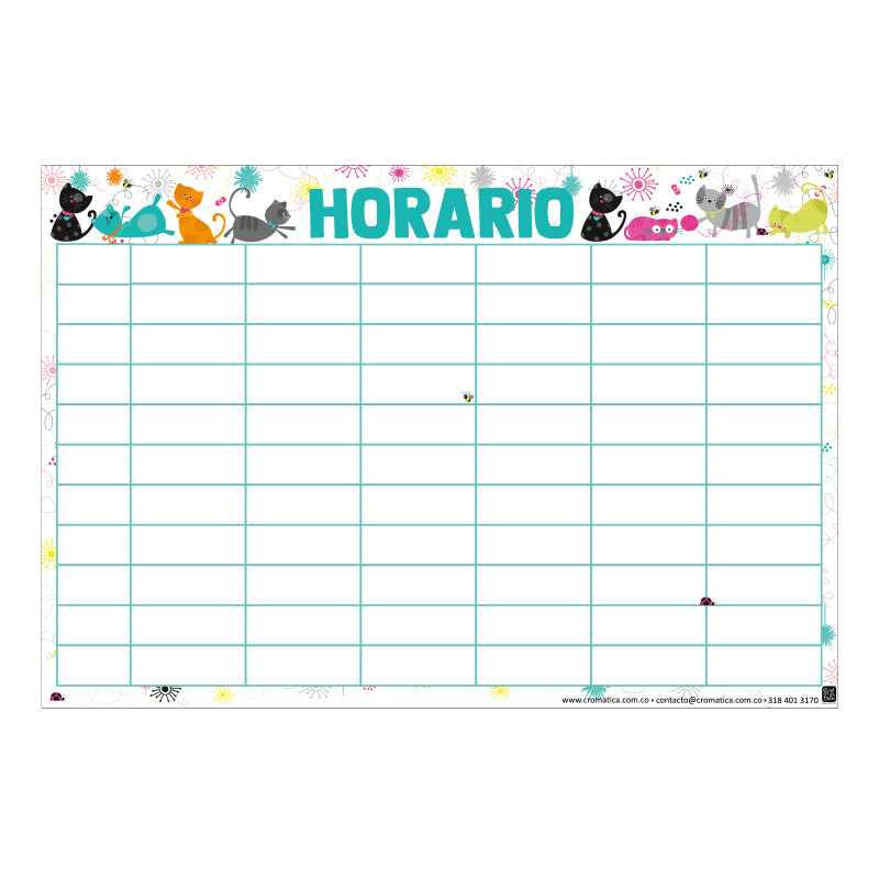 Horario Gatos - Casillas en blanco