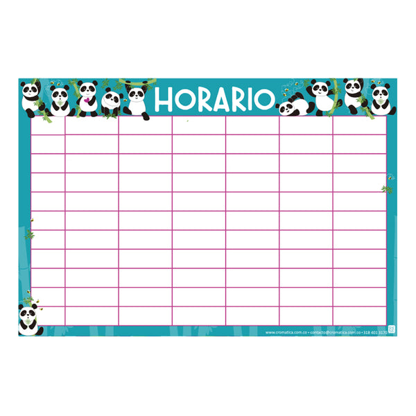 Horario Pandas - Casillas en blanco