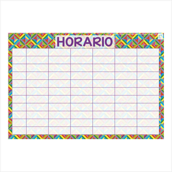 Horario Rombos - Casillas en blanco