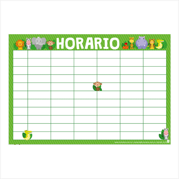 Horario Selva - Casillas en blanco