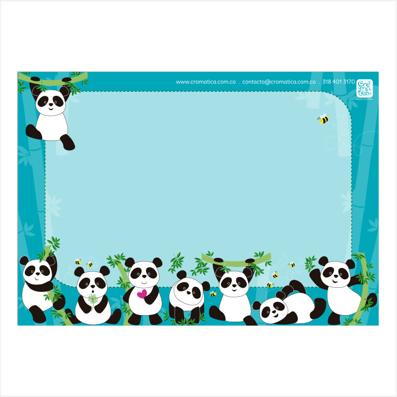 Super Stickers Pandas