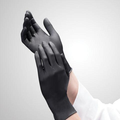 Black Nitrile Exam Gloves, 100% Latex And Powder Free, 5 mil, Series 9047, 1000 Gloves/case