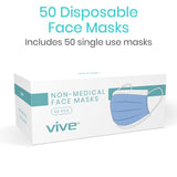 WHOLESALE PRICING 3-Ply, Non-Medical, Disposable Face Masks, 50 masks/Box