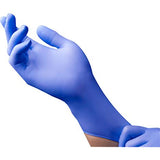 Powder-Free Nitrile Exam Gloves, 4 mil. Latex Free, Violet Blue Color, Beaded Cuff, Ambidextrous, 9830 series, 2000/case