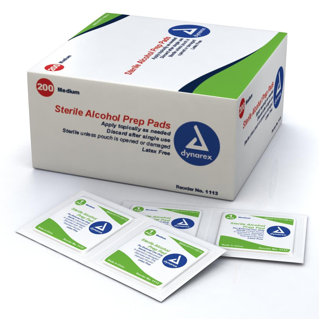 Sterile Alcohol Prep Pads by Dynarex Corporation (DYA1113) 2000/case
