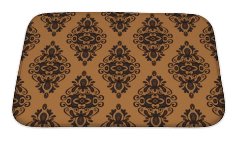 Bath Mat, Vintage Damask Pattern