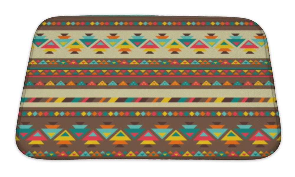 Bath Mat, Ethnic Pattern In Native Style