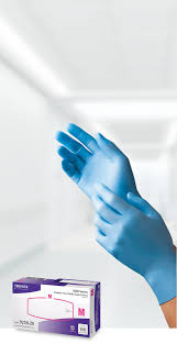 Blue Nitrile Exam Gloves, 100% Latex and Powder-Free, 4 mil, Series 9250, 1000 Gloves/case
