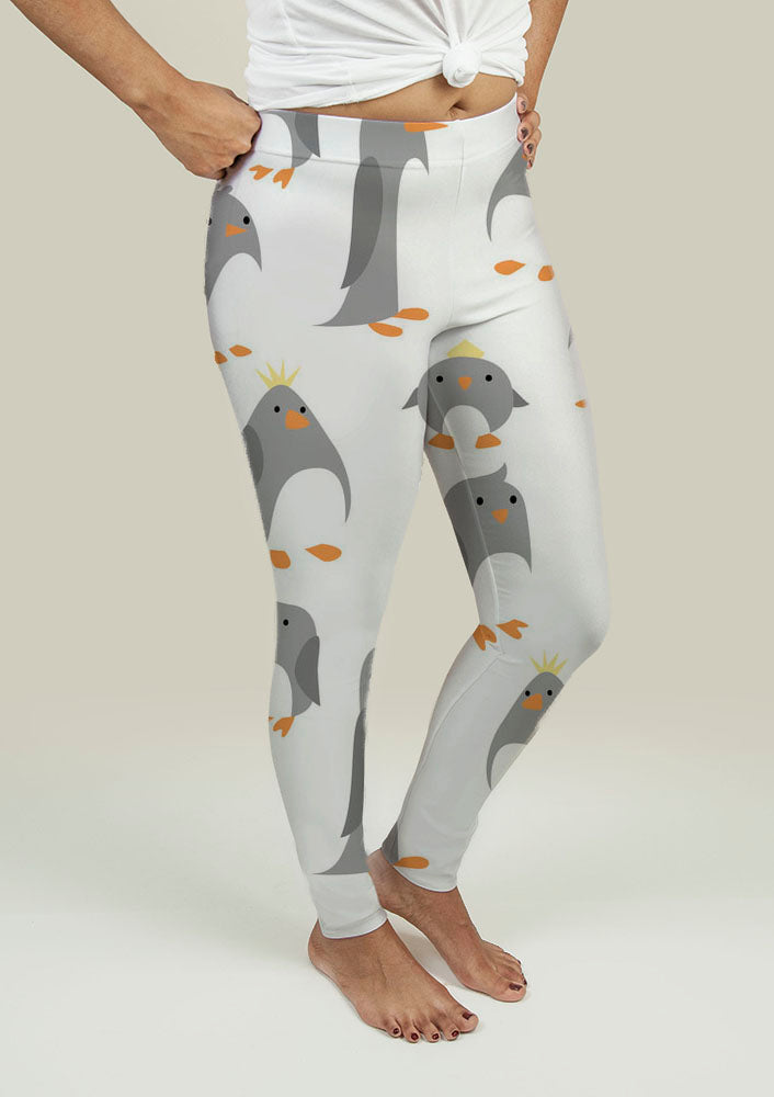 Leggings with Cute Penguins