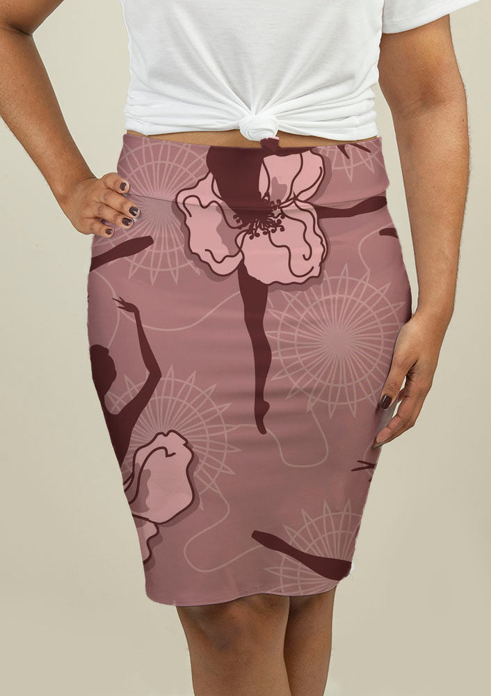 Pencil Skirt with Ballet Dancers