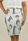 Pencil Skirt with Cute Penguins