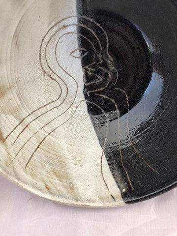Black and White Abstract Bowl