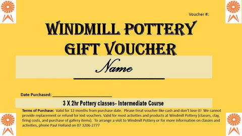 Gift Voucher for an Intermediate Class